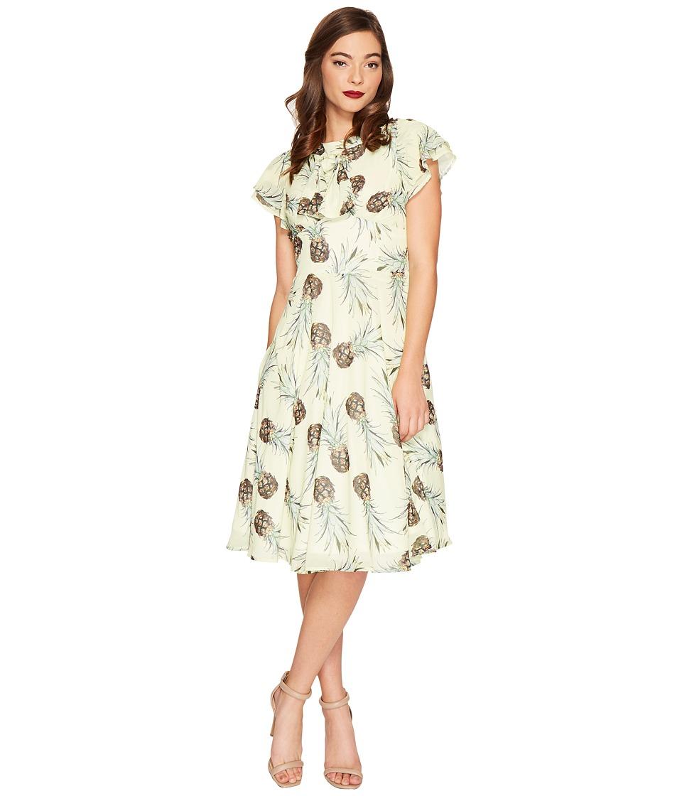 Unique Vintage Dixon Day Dress (Pineapple Print) Women