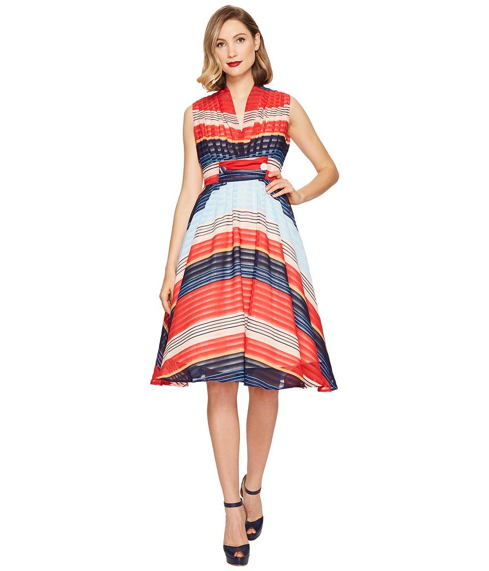 Unique Vintage De Carlo Dress (Stripes) Women