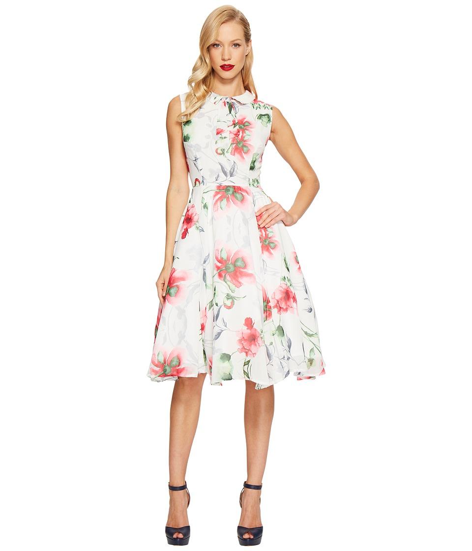 Unique Vintage - Chiffon Olson Dress (Floral Print) Women's Dress