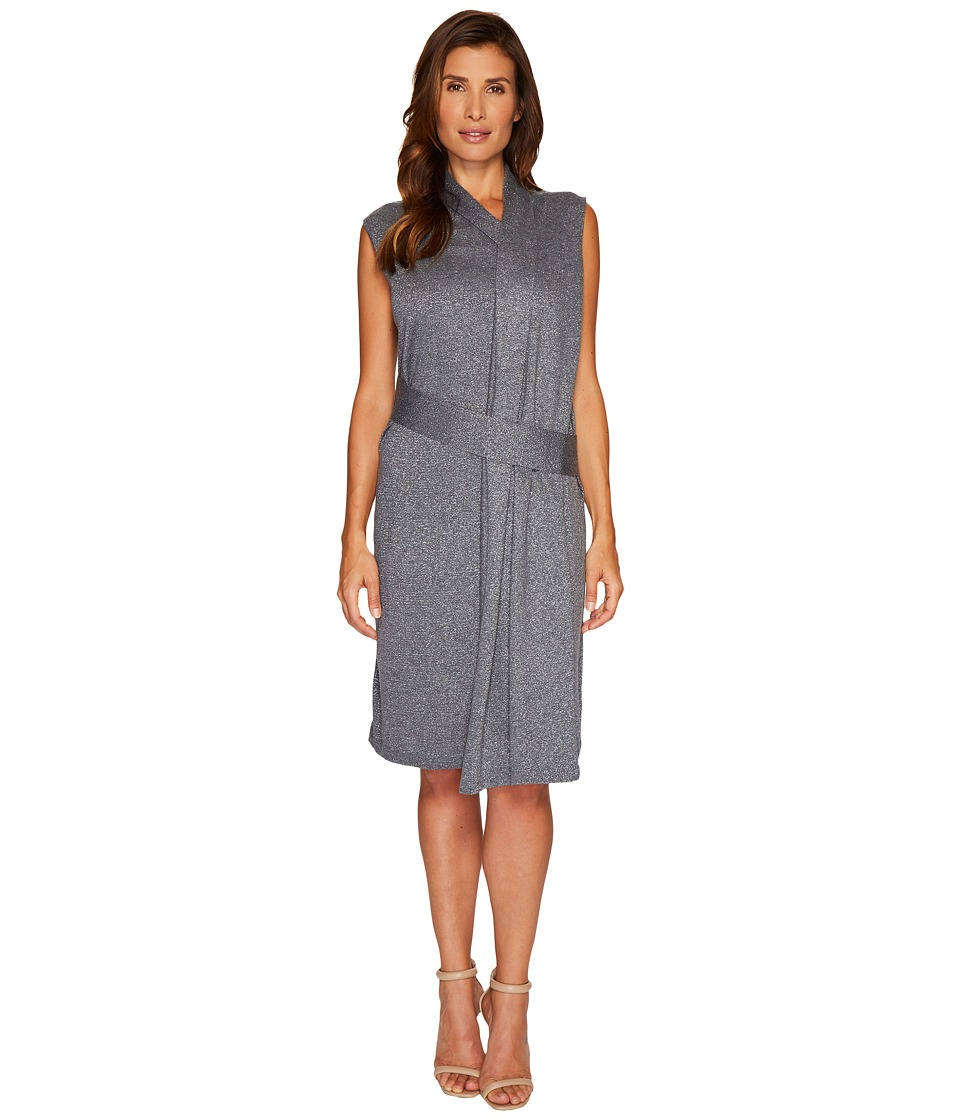 NIC+ZOE - Draped Wrap Dress (Smoke) Women's Dress
