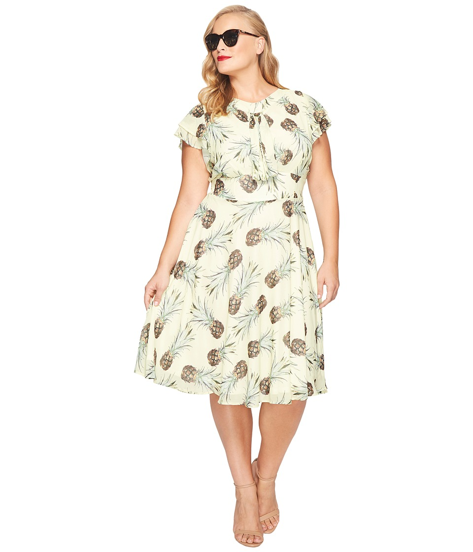Unique Vintage - Plus Size Dixon Day Dress (Pineapple Print) Women's Dress
