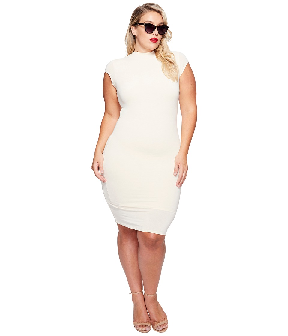 Unique Vintage - Plus Size Holly Wiggle Dress (Ivory) Women's Dress