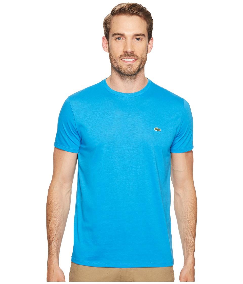 Lacoste - Short-Sleeve Pima Jersey Crewneck T-Shirt (Plane) Men's T Shirt