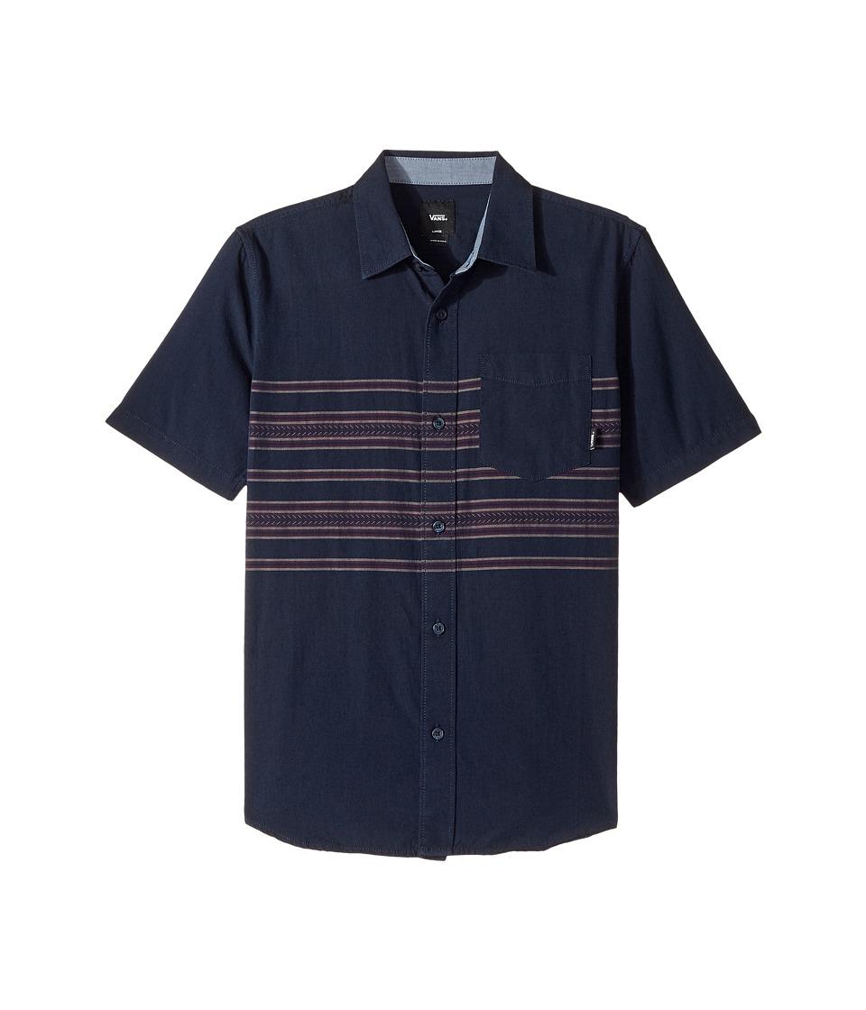 Vans Kids - Benmore Short Sleeve Woven (Big Kids) (Dress Blues) Boy's Clothing