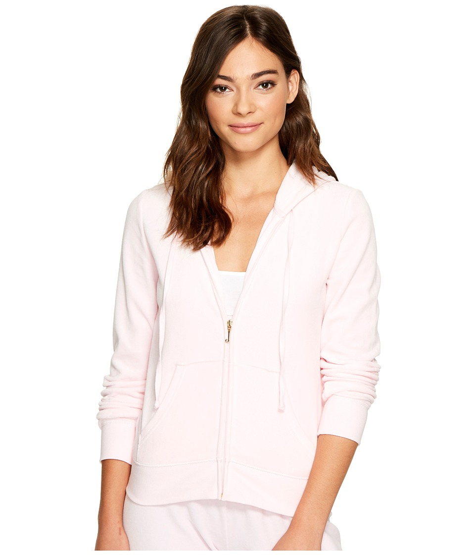 Juicy Couture - Robertson Velour Jacket (Whisper Pink) Women's Coat