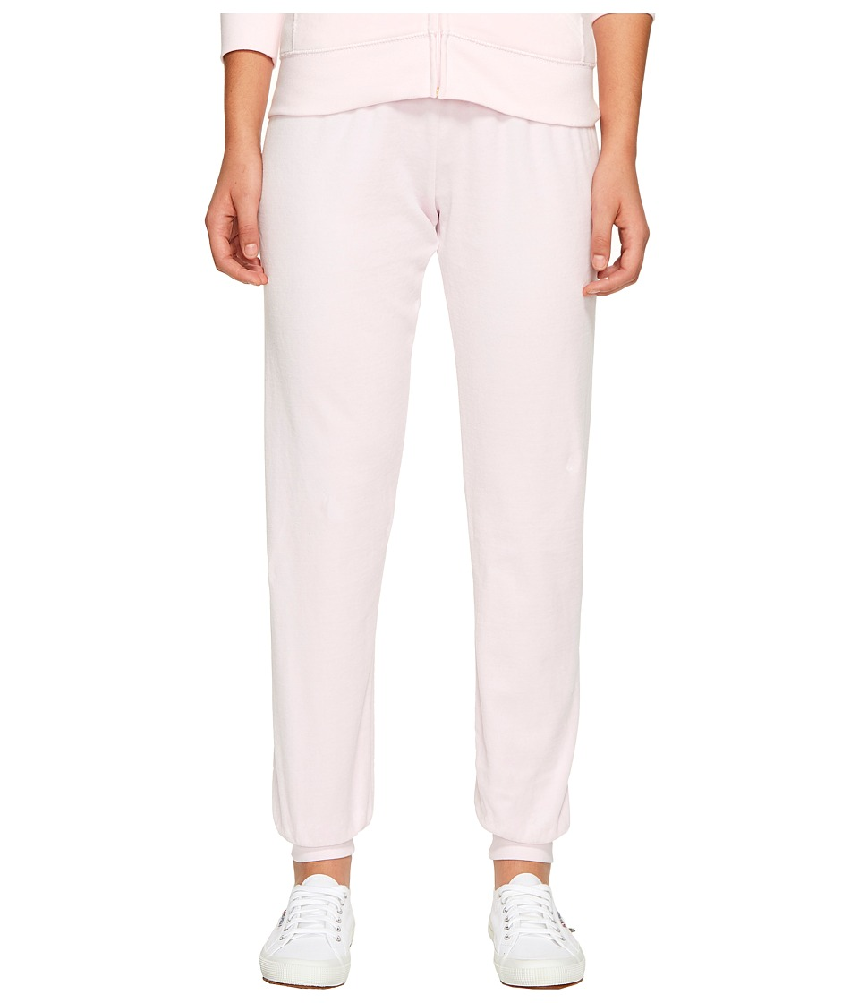 Juicy Couture - Zuma Velour Pants (Whisper Pink) Women's Casual Pants