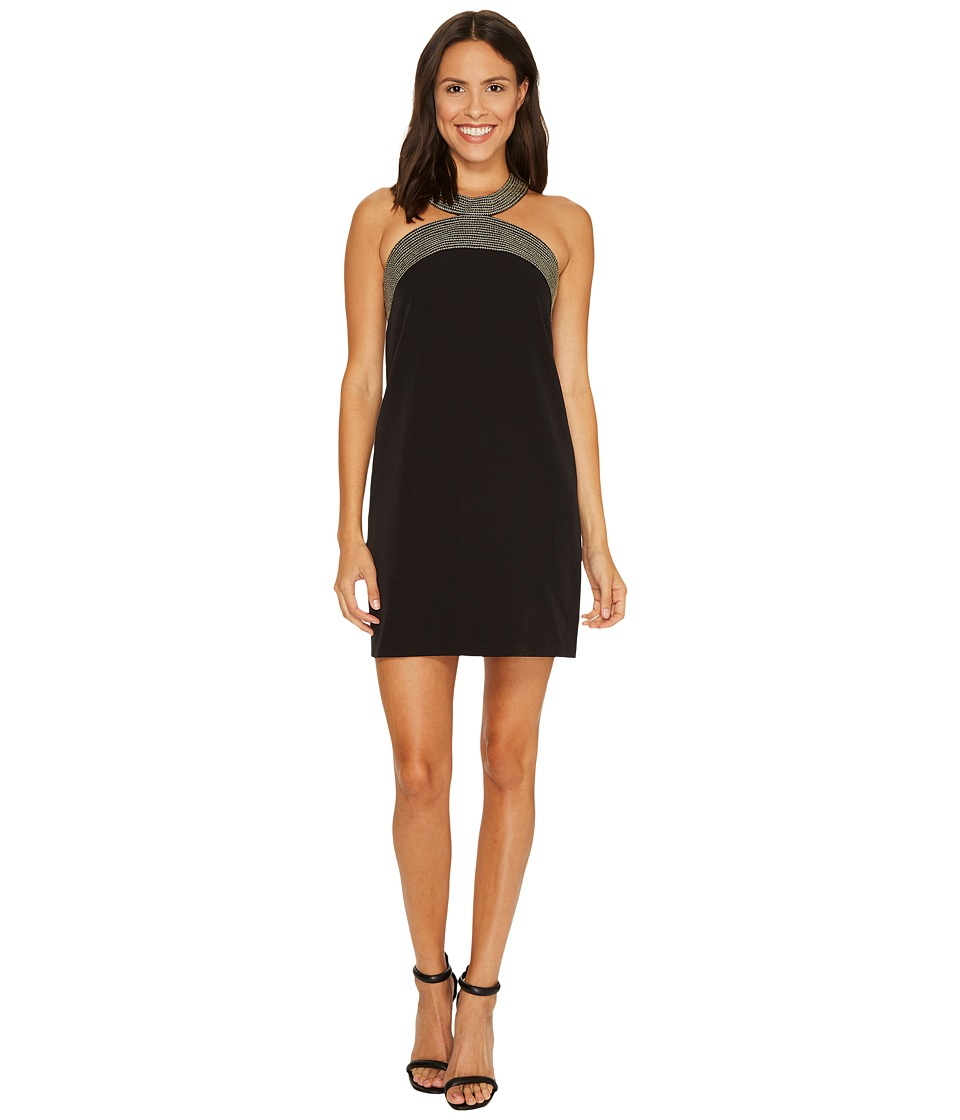 Laundry by Shelli Segal Shift Dress with Embroidery (Black) Women