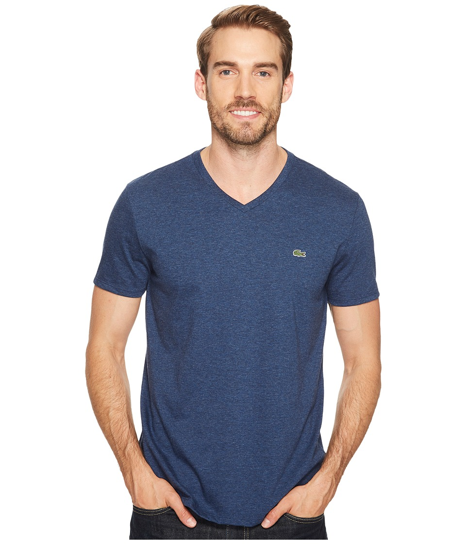 Lacoste - S/S Pima Jersey V-Neck T-Shirt (Medway) Men's Short Sleeve Pullover