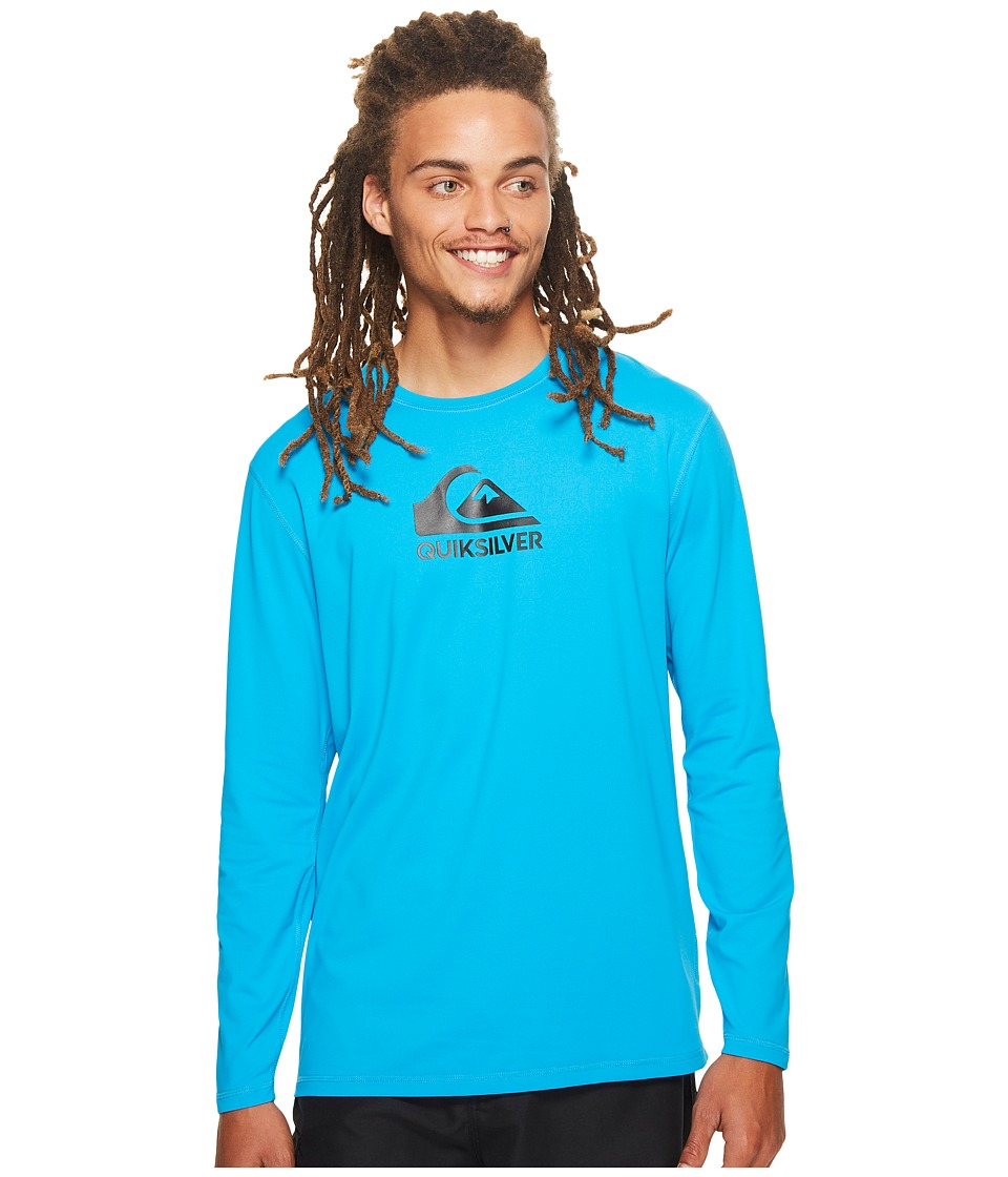 Quiksilver Solid Streak Long Sleeve Rashguard (Blue Danube) Men