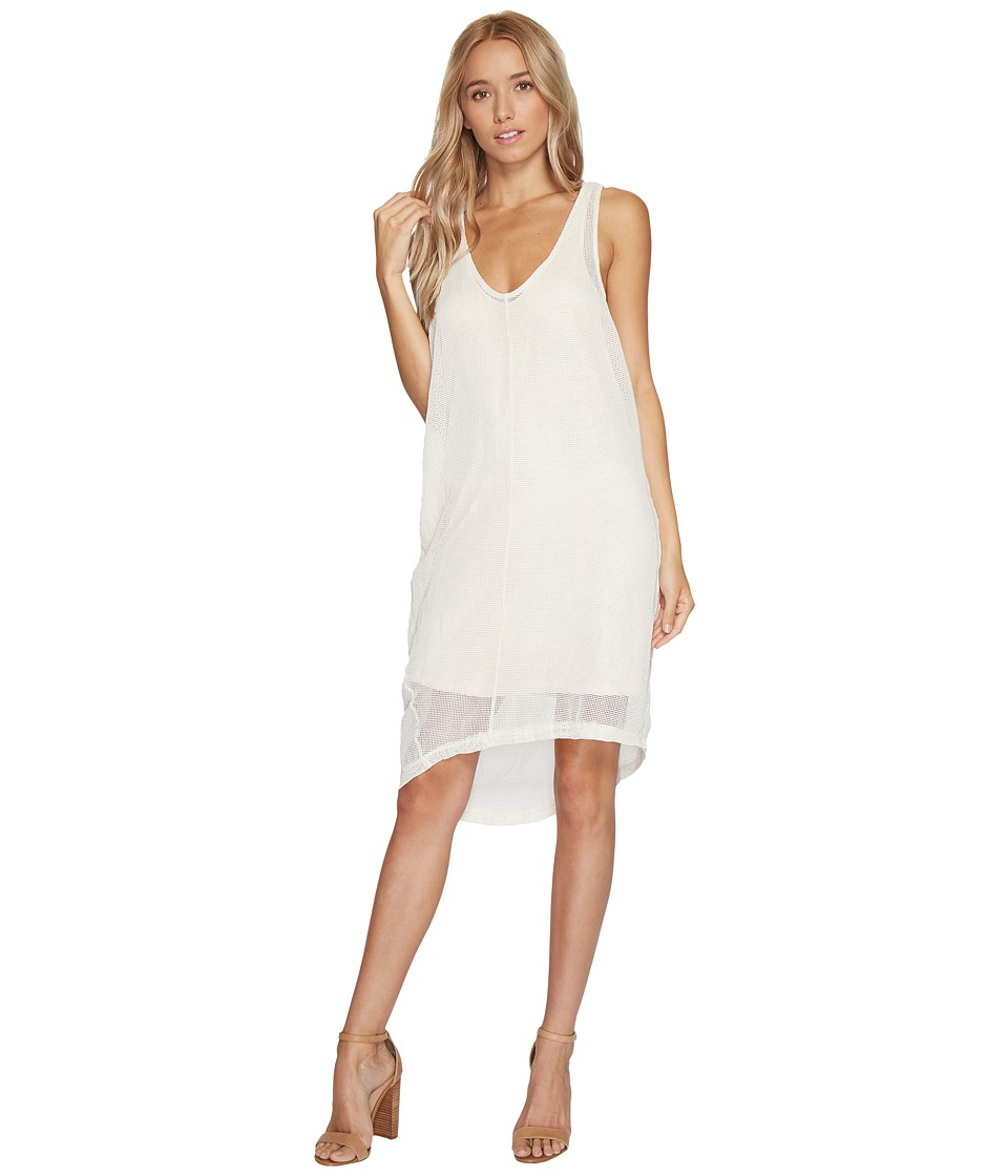 HEATHER - Daryl Square Mesh Tank Dress (Porcelain) Women's Dress
