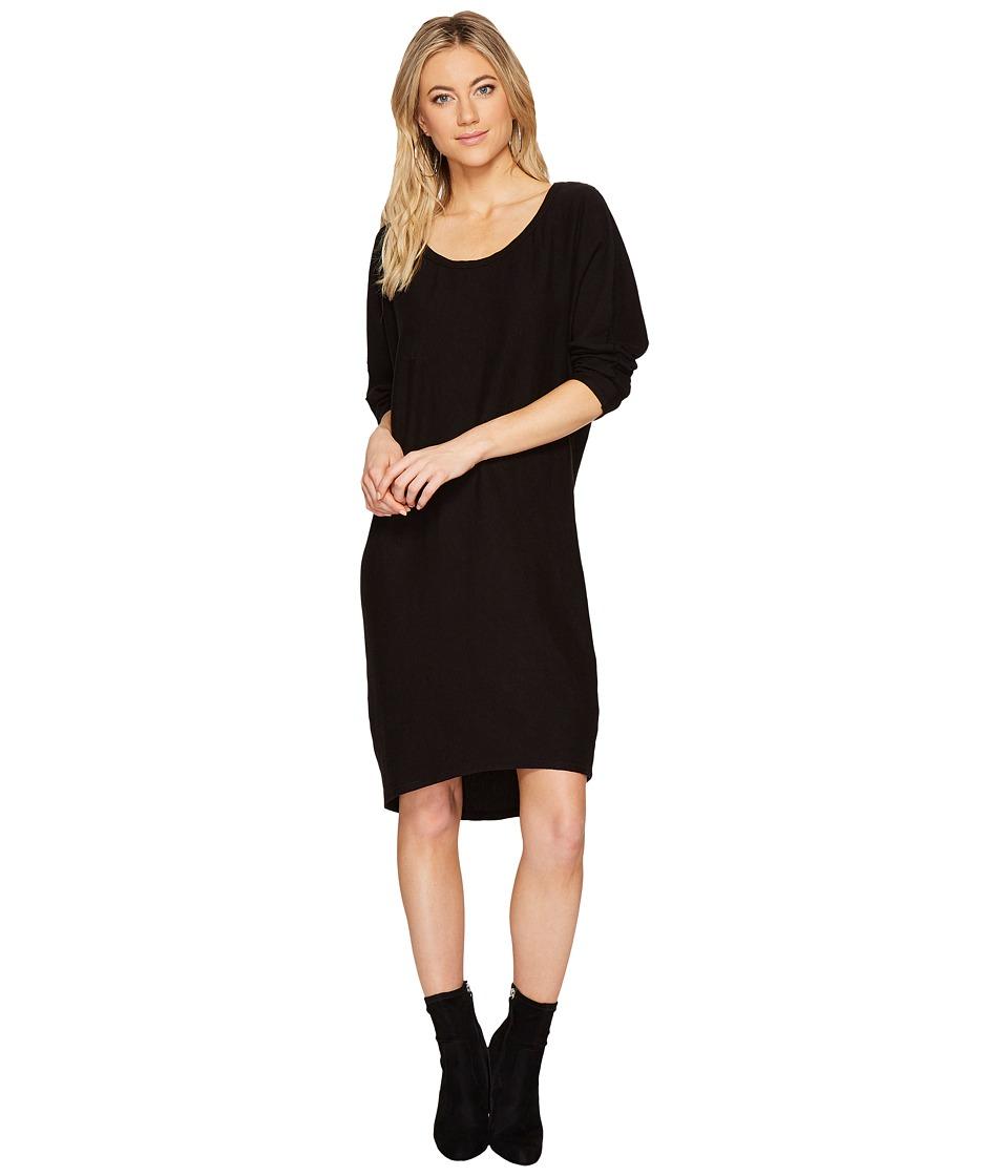 HEATHER Lynn Asymmetrical Pullover Dress (Black) Women