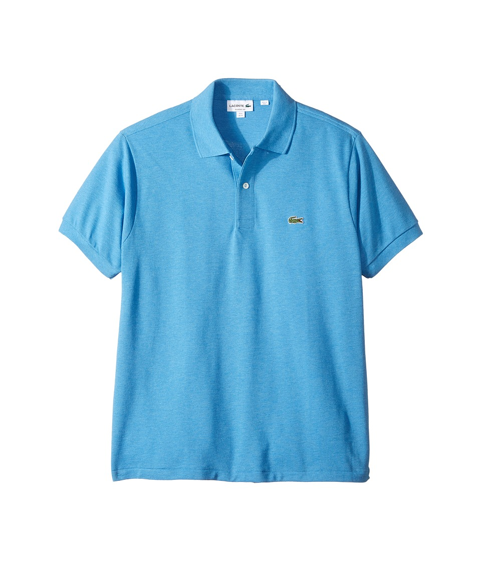 Lacoste - Short Sleeve Classic Fit Chine Pique Polo Shirt (Blue Lagoon Chine) Men's Short Sleeve Pullover