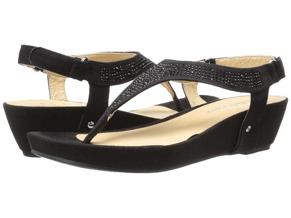CL By Laundry - Nice Day (Black Micro Suede) Women's Sandals