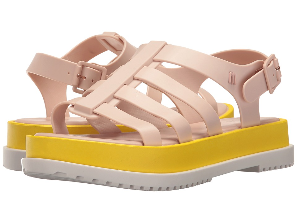 Melissa Shoes - Flox III (Pastel Pink/Yellow) Women's Shoes
