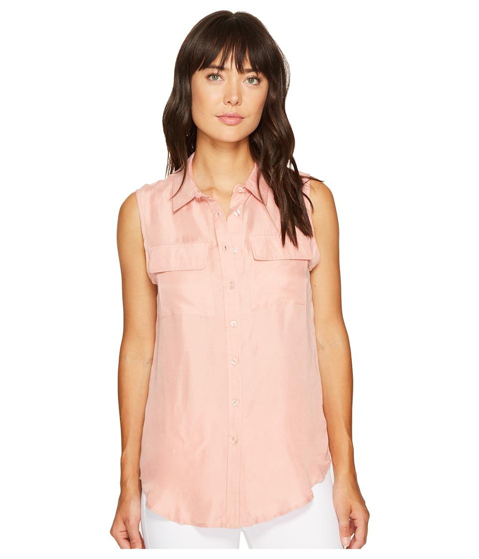 ROMEO & JULIET COUTURE - Sleeveless Button-Up Shirt (Blush) Women's Sleeveless