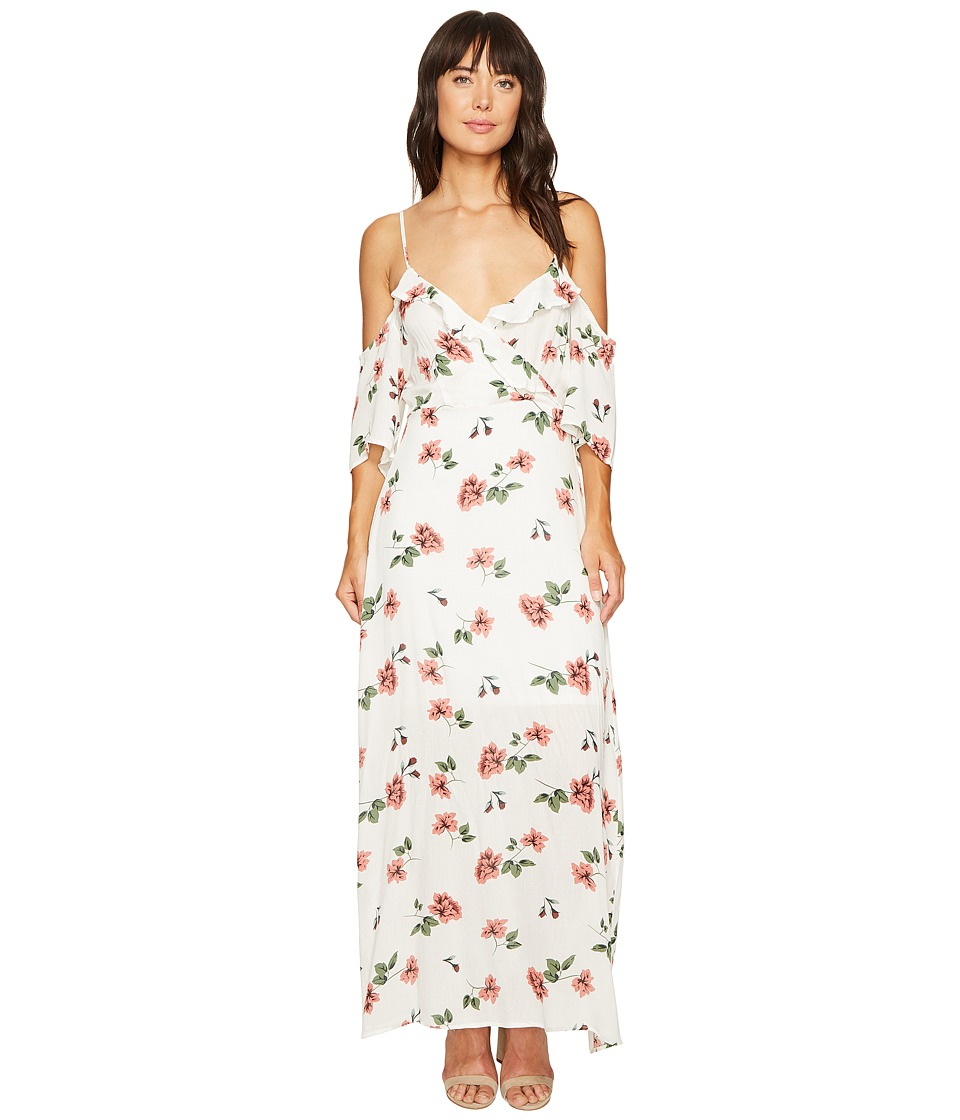 ROMEO & JULIET COUTURE - Floral Cold Shoulder Dress (Ivory) Women's Dress