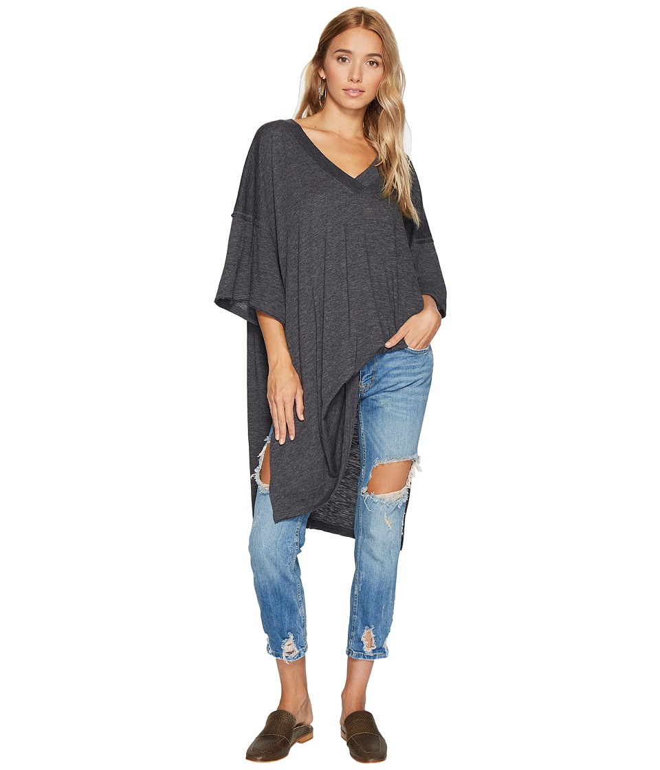 Free People - City Slicker Tunic (Black) Women's Blouse