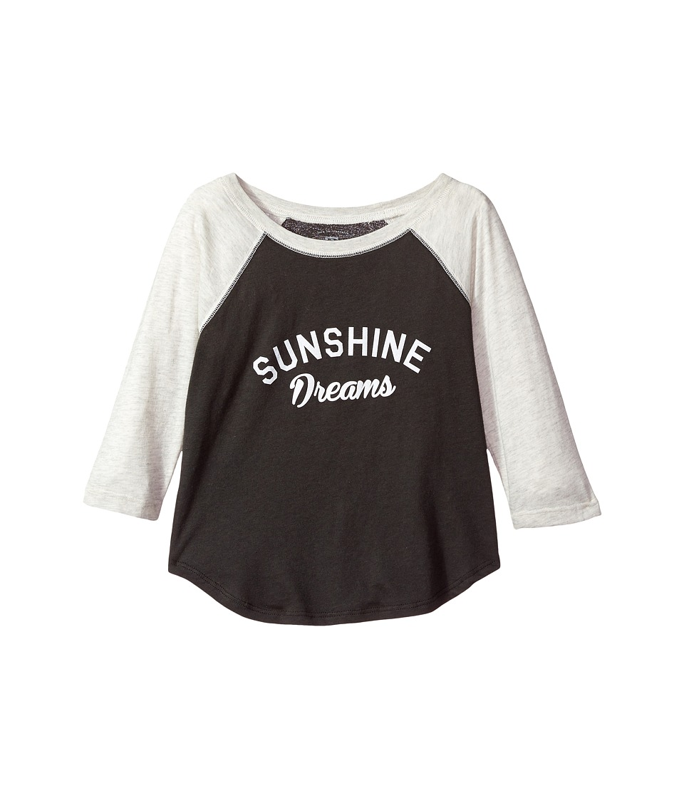 Billabong Kids Sunshine Dreams Raglan (Little Kids/Big Kids) (Off-Black) Girl
