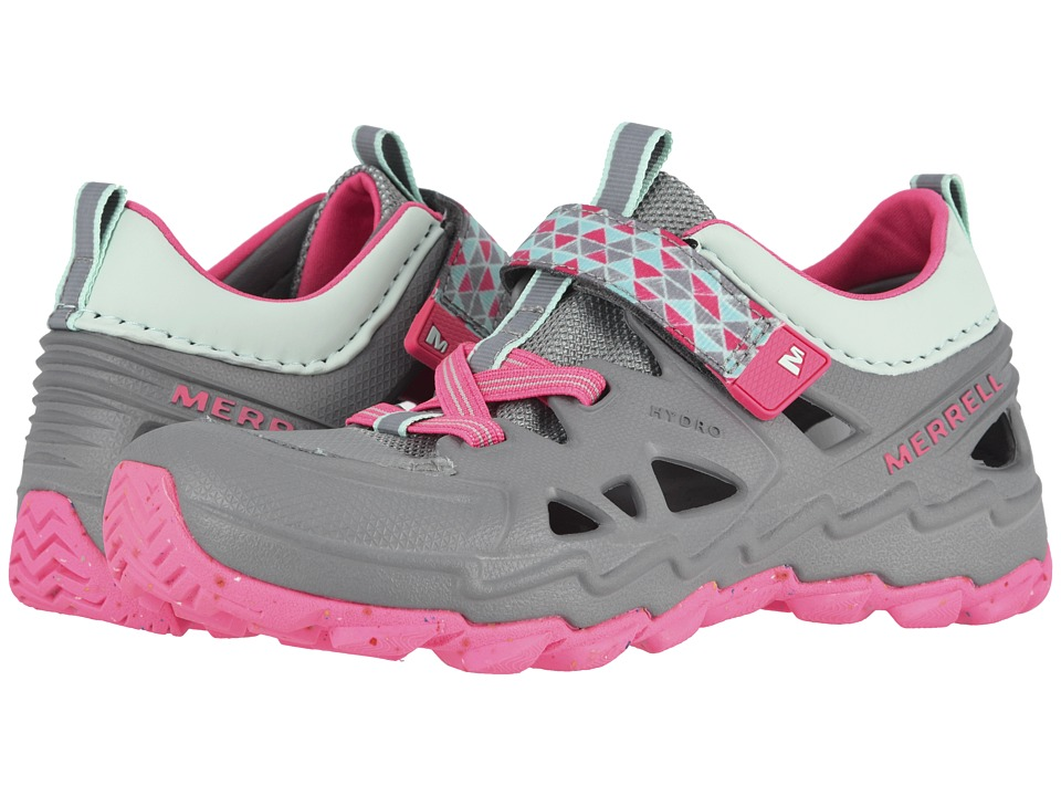 Merrell Kids Hydro 2.0 (Toddler/Little Kid) (Grey/Pink) Girls Shoes