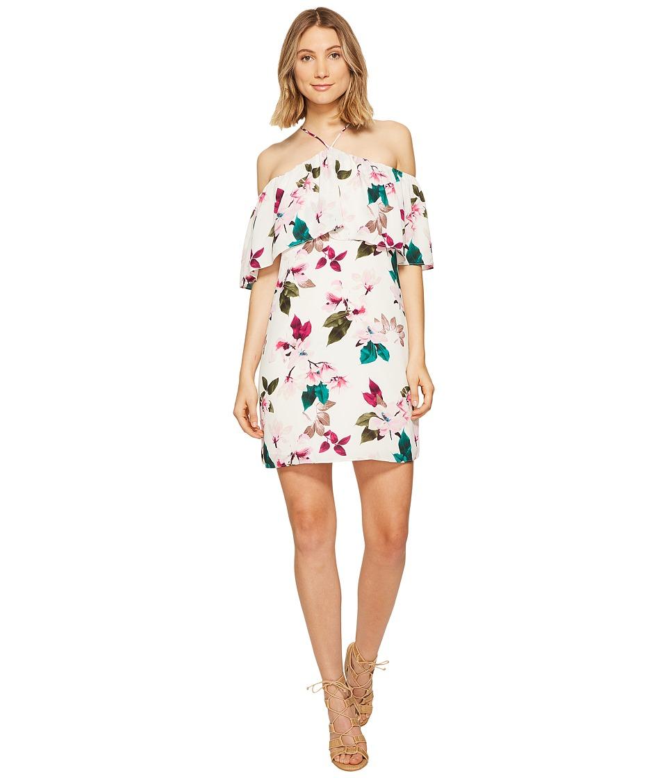 1.STATE - Halter Neckline Ruffle Dress (Cloud) Women's Dress