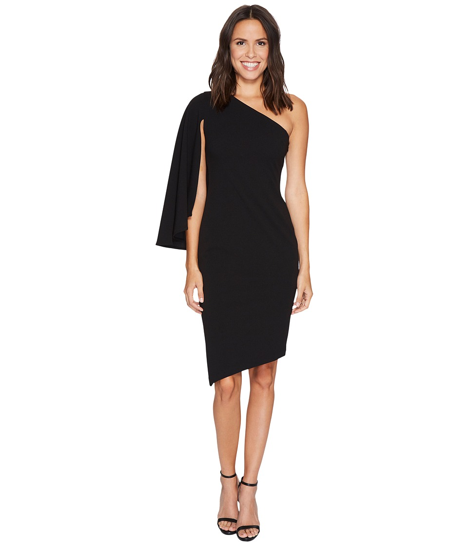 Calvin Klein - One Shoulder Split Sleeve Asymmetric Hem Dress CD7C193R (Black) Women's Dress