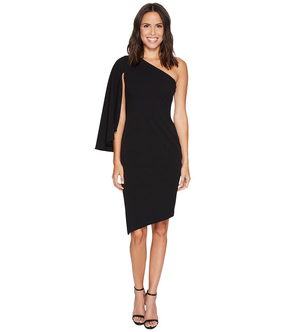 Calvin Klein - One Shoulder Split Sleeve Asymmetric Hem Dress CD7C193R (Black) Women's Dress