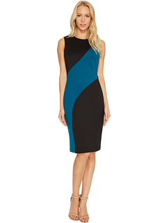 Color Block Sheath Dress Cd7 M126 T by Calvin Klein