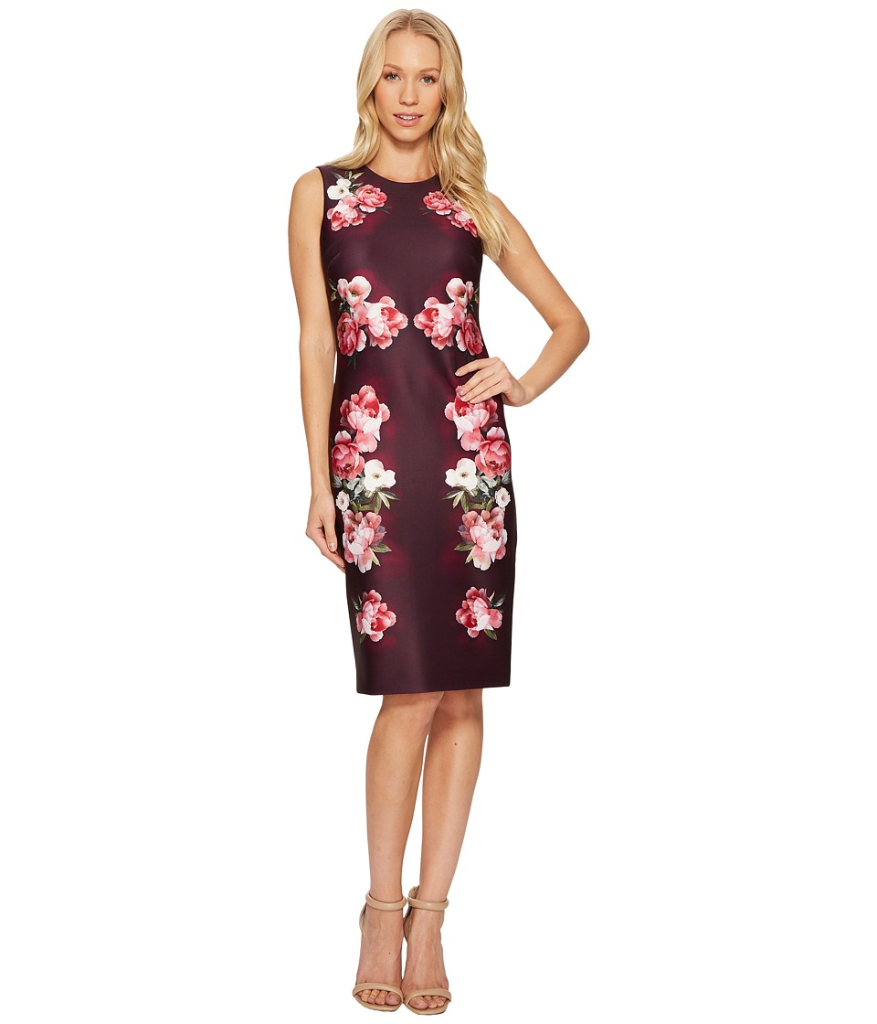 Calvin Klein Flower Border Print Sheath Dress