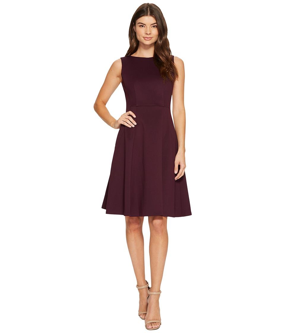 Calvin Klein Scuba Fit Flare Dress