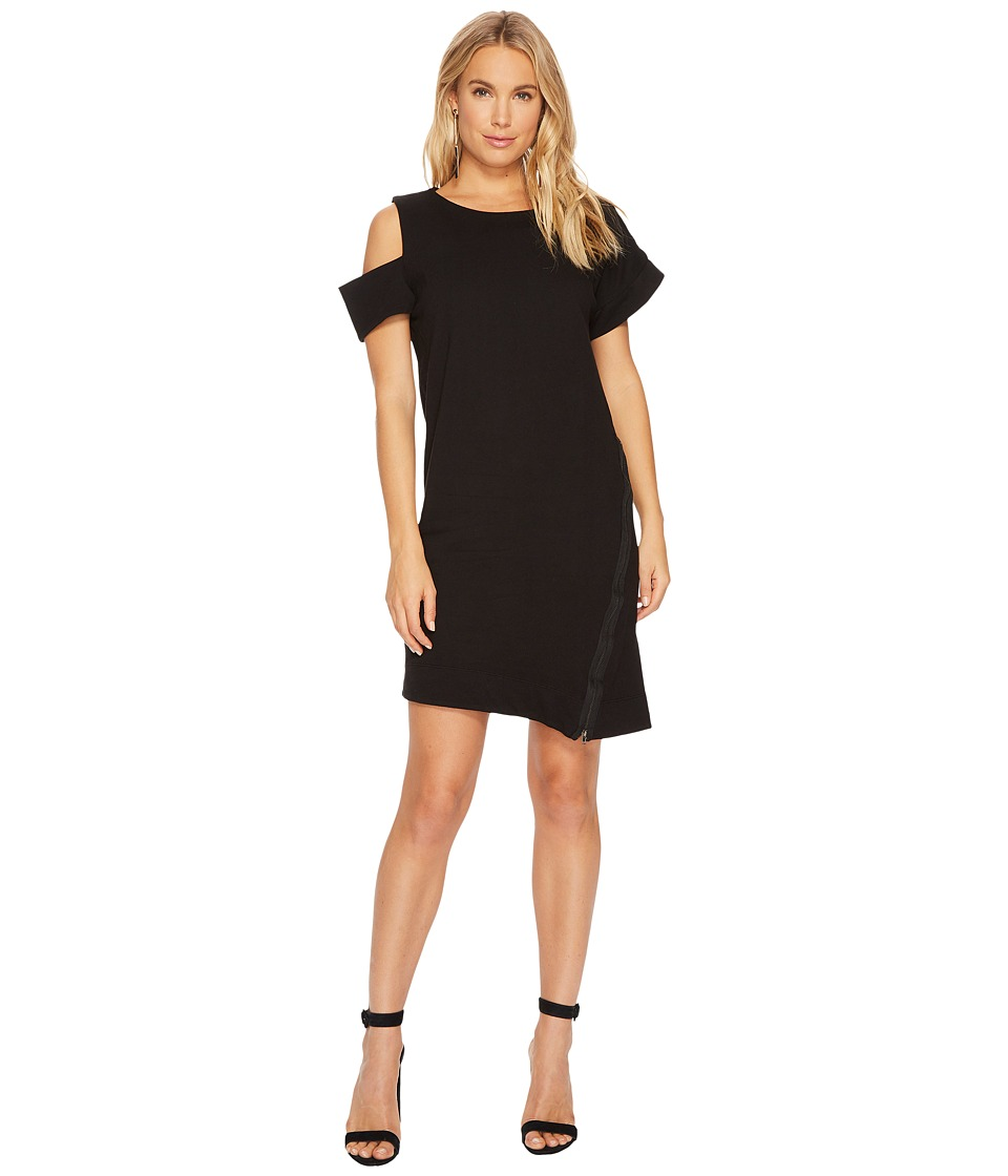 HEATHER Caplan Asymmetrical Zip Dress (Black) Women
