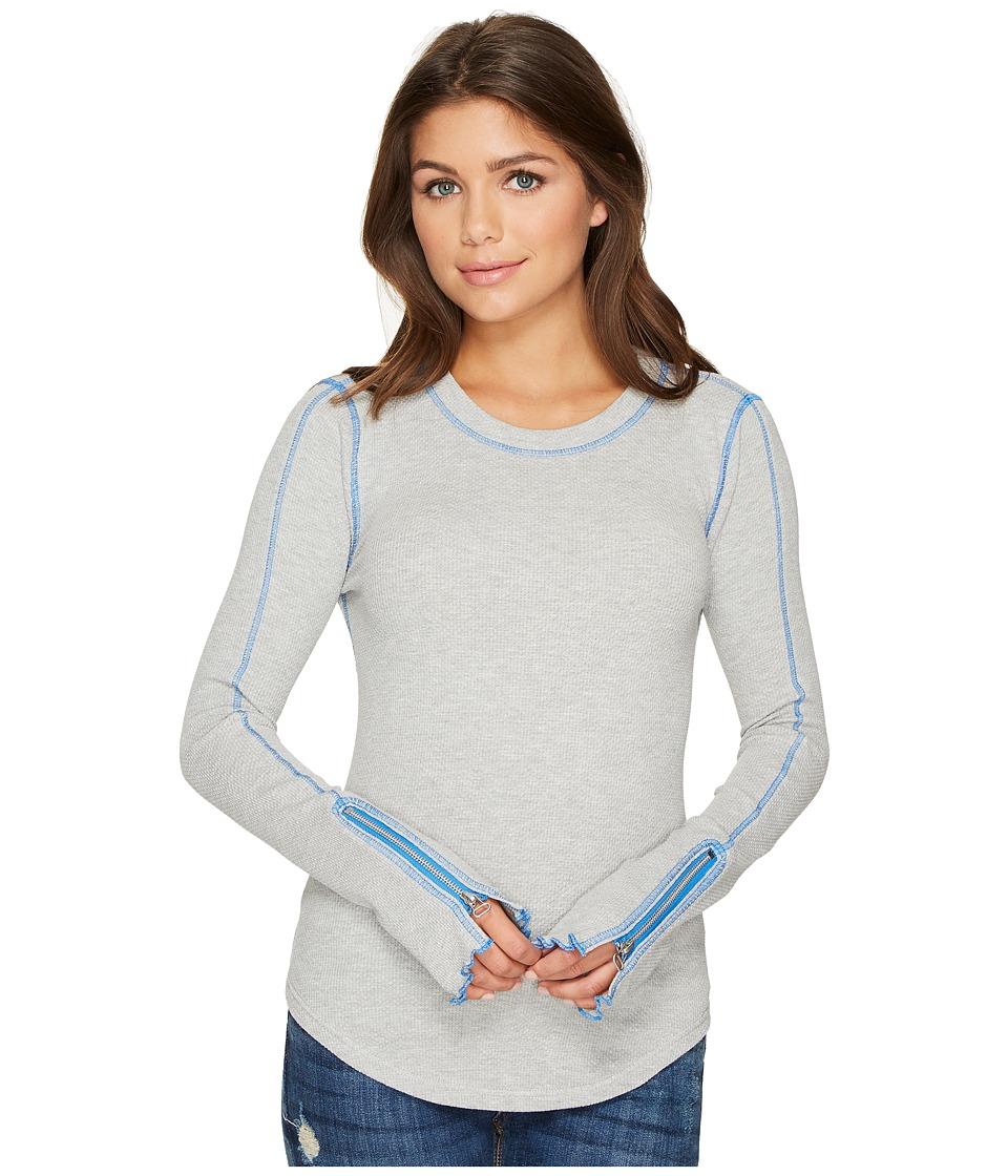 Free People - Zip It Cuff (Grey) Women's Clothing