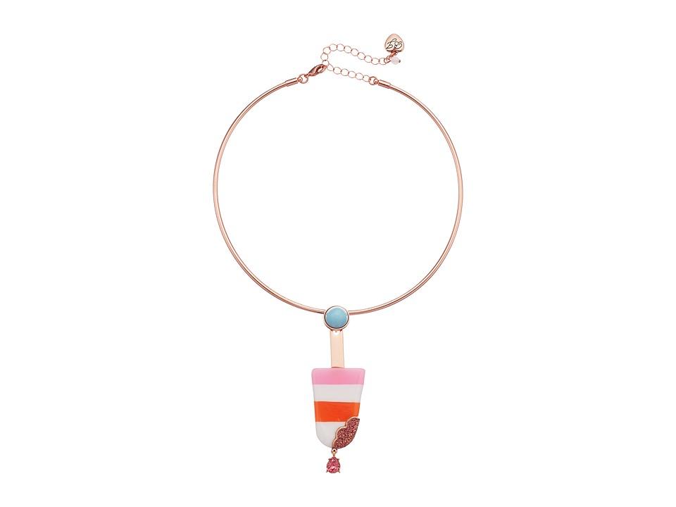 Betsey Johnson - Popsicle Drop Pendant Necklace (Multicolor) Necklace