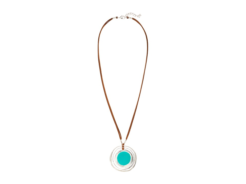 Robert Lee Morris - Long Orbital Pendant Necklace (Teal) Necklace