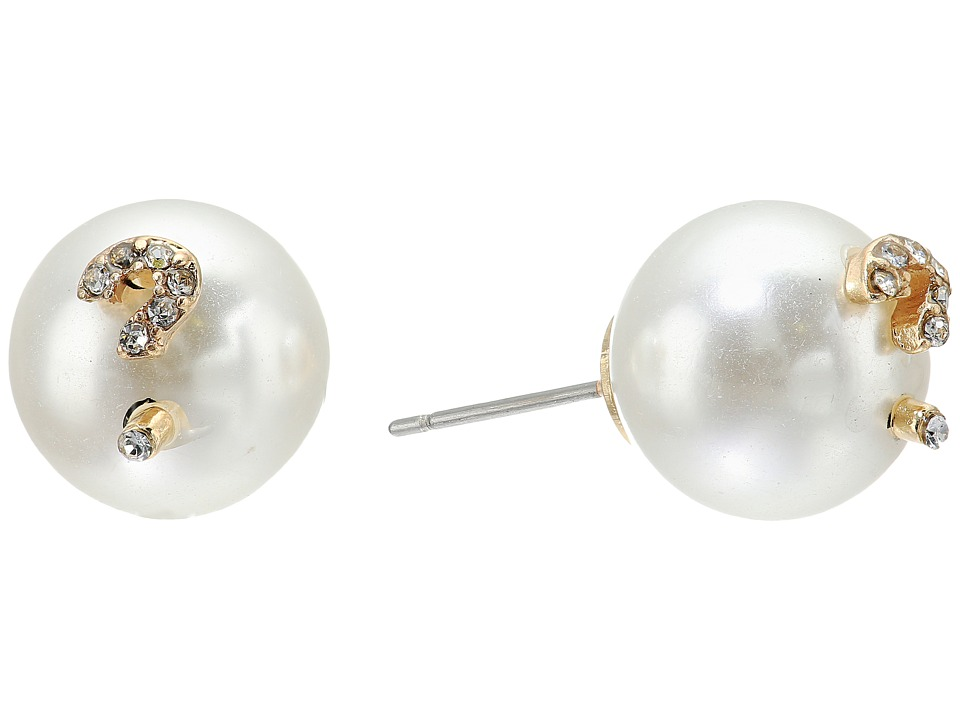 Betsey Johnson - Pearl and ? Earrings (Pearl) Earring