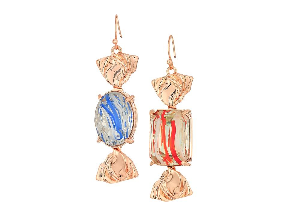 Betsey Johnson - Candy Wrapped Earrings (Blue) Earring