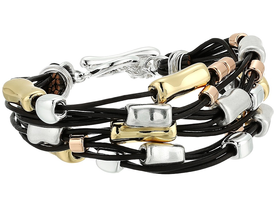 Robert Lee Morris - Leather and Metal Bracelet (Tri-Tonal) Bracelet