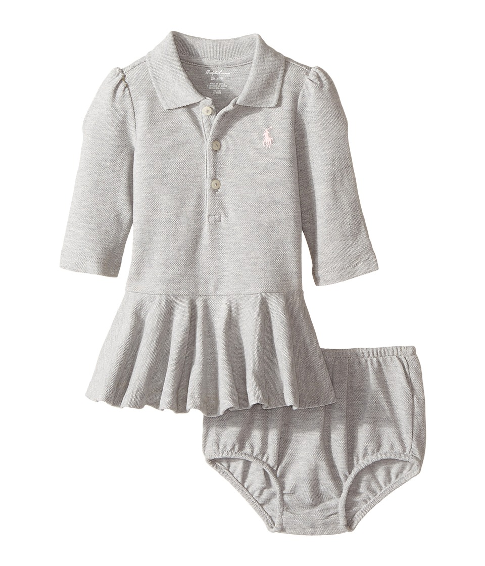 Ralph Lauren Baby - Cotton Polo Dress Bloomer (Infant) (Andover Heather) Girl's Active Sets