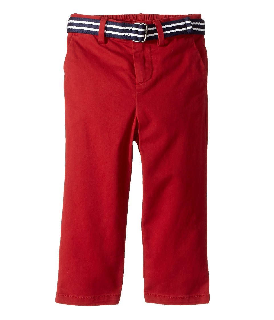 Ralph Lauren Baby - Belted Stretch Cotton Chino Pants (Infant) (Camden Red) Boy's Casual Pants