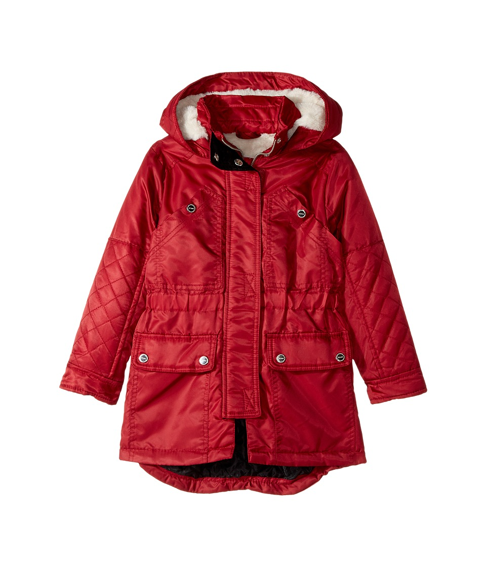 Urban Republic Kids - Poly-Twill Anorak with Quilted Lining (Toddler) (Ruby Red) Girl's Jacket