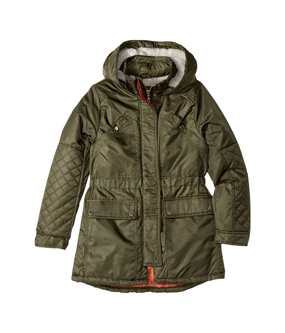 Urban Republic Kids Poly-Twill Anorak with Quilted Lining (Little Kids/Big Kids) (Olive) Girl