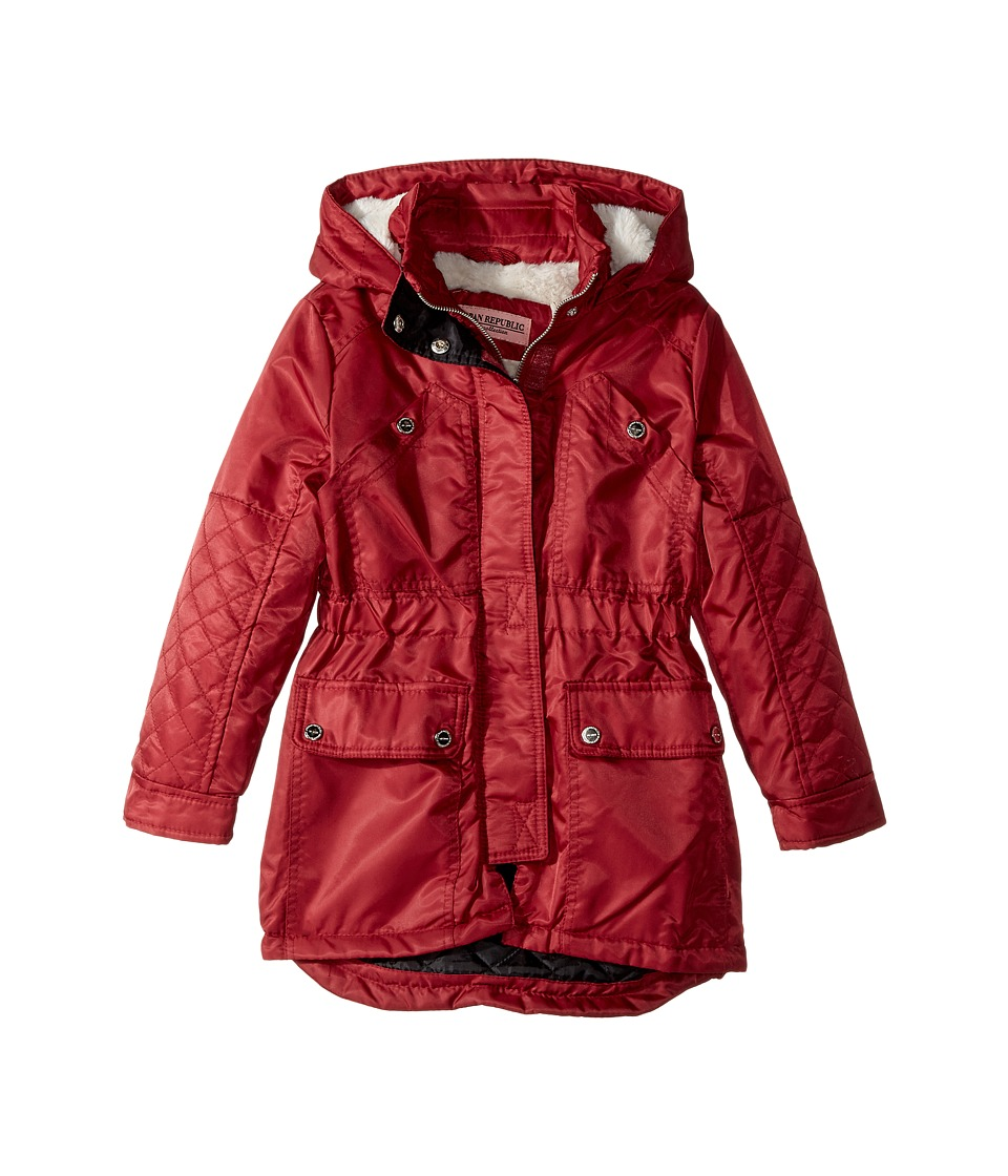 Urban Republic Kids Poly-Twill Anorak with Quilted Lining (Little Kids/Big Kids) (Ruby Red) Girl