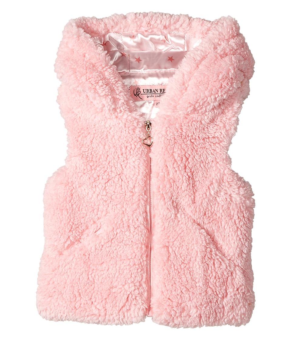 Urban Republic Kids - Woobie Vest with Hood Pockets (Toddler) (Powder Pink) Girl's Vest
