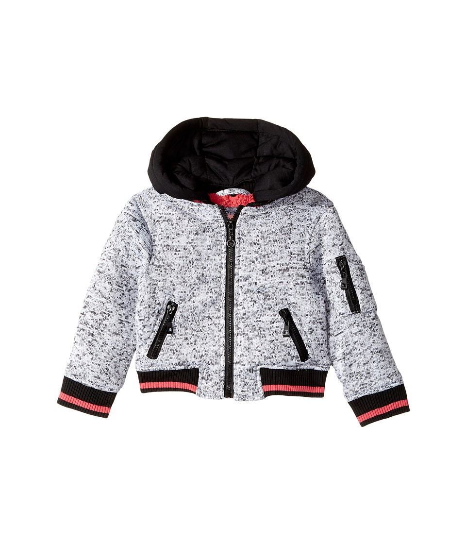 Urban Republic Kids - Melange Fleece Bomber with Woobie Lining (Toddler) (Heather Grey) Girl's Coat
