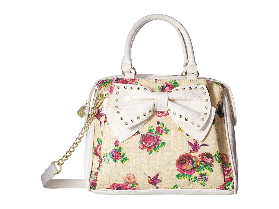 Betsey Johnson - Pinch Triple Satchel (Floral) Satchel Handbags