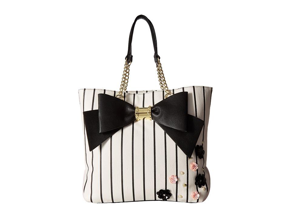 Betsey Johnson - North/South Tote (Stripe) Wallet Handbags