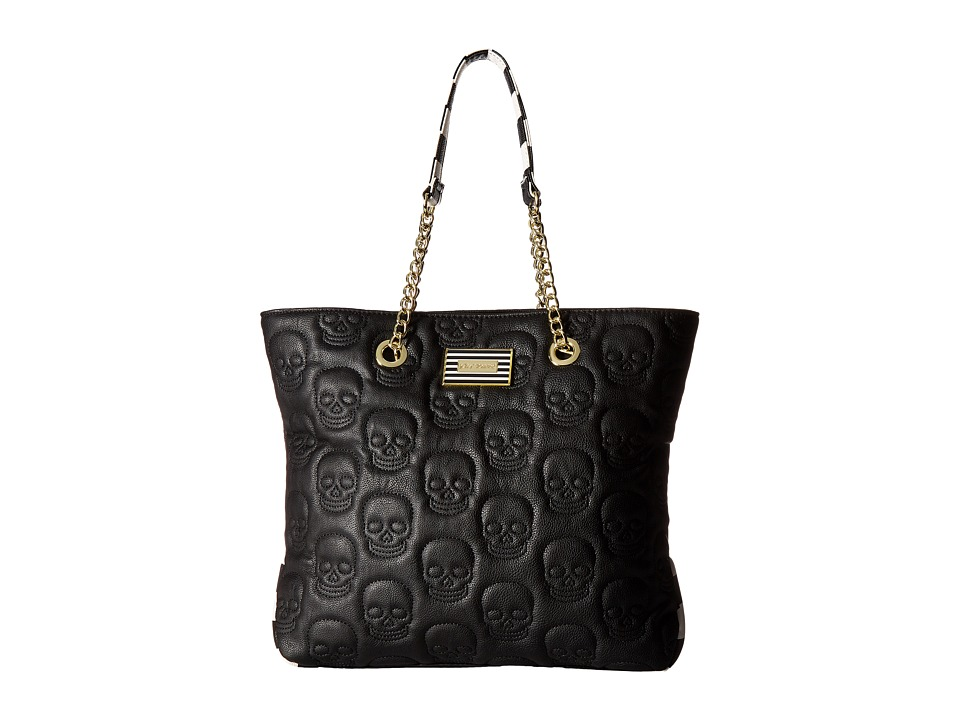 Betsey Johnson - North/South Tote (Black Floral) Wallet Handbags