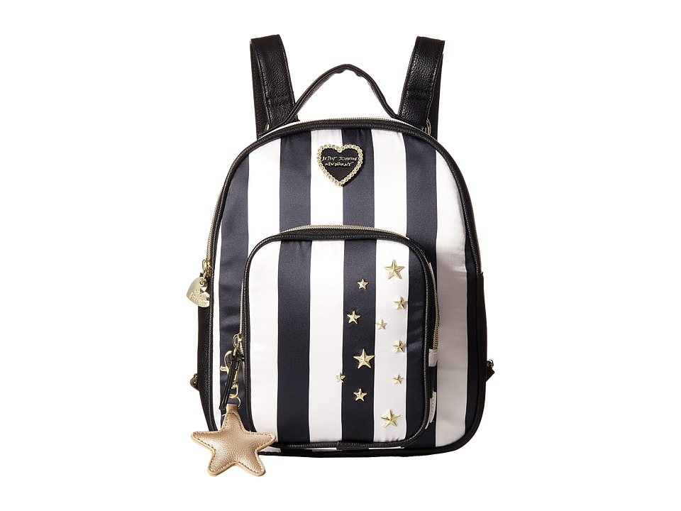 Betsey Johnson - Quilted Winged Heart Backpack (Stripe) Backpack Bags