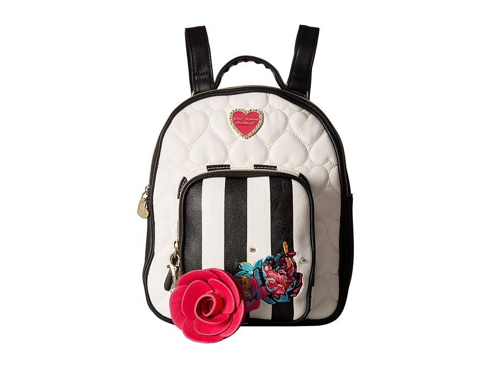 Betsey Johnson - Quilted Winged Heart Backpack (Multi) Backpack Bags