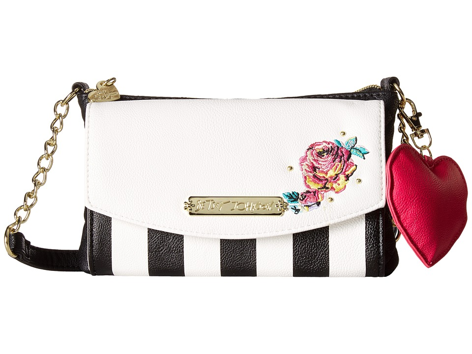 Betsey Johnson - Trifold Wallet on a String (Stripe) Wallet Handbags
