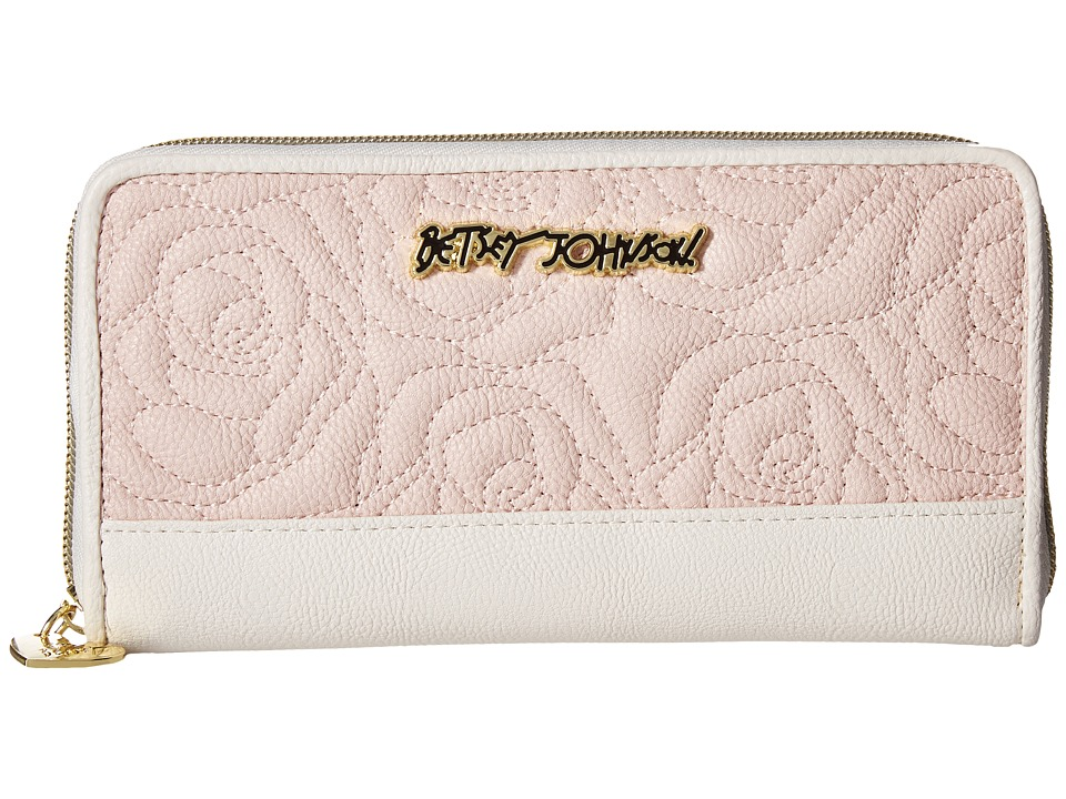 Betsey Johnson - Zip Around Wallet (Blush Multi) Wallet Handbags